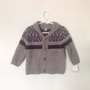 NWT. Grey Cardigan from Carters Size 18 months